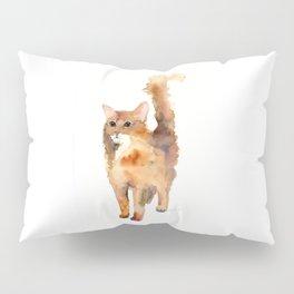 Ginger Fluffy Cat Pillow Sham
