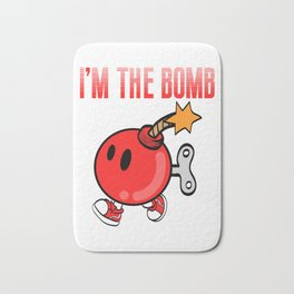 """A Bombing Tee For Bombers Saying """"I'm The Bomb"""" T-shirt Design Explosive Device Timer Ticker Blast Bath Mat"""