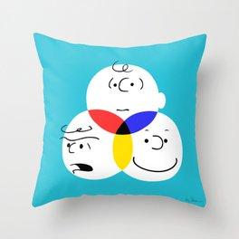 Charlie Brown, colour wheel Throw Pillow