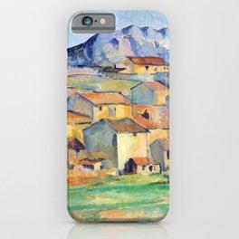 Paul Cézanne - Mont Sainte-Victoire and Hamlet Near Gardanne - Hameau à Payennet près de Gardanne iPhone Case