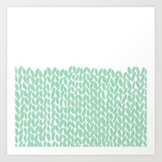 Half Knit Mint Art Print