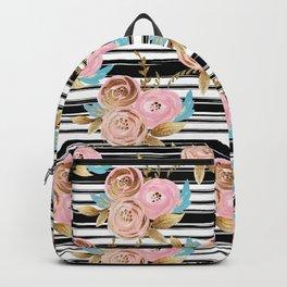 Golden French floral Backpack