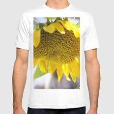 Take Cover [SUNFLOWER] Mens Fitted Tee White MEDIUM
