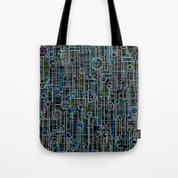 techno Tote Bags featuring Techno Music by Shawn King
