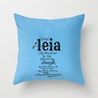leia Throw Pillows featuring Leia by KimberosePhotography
