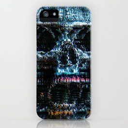 Analogue Glitch Skull Array iPhone Case
