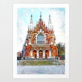 St. Josephs Church Krakow #krakow Art Print