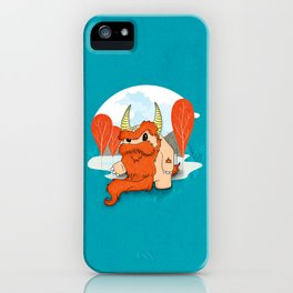 Graggy, the plump Happy Chaos Monster of Scotland iPhone Case