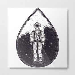 Astronaut Trapped In Space Metal Print