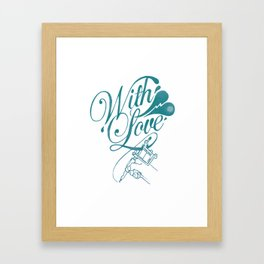 With Love Framed Art Print