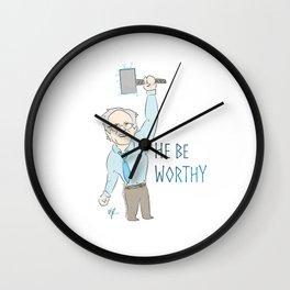 He Be Worthy Wall Clock
