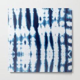 Linen Shibori Shirting Metal Print