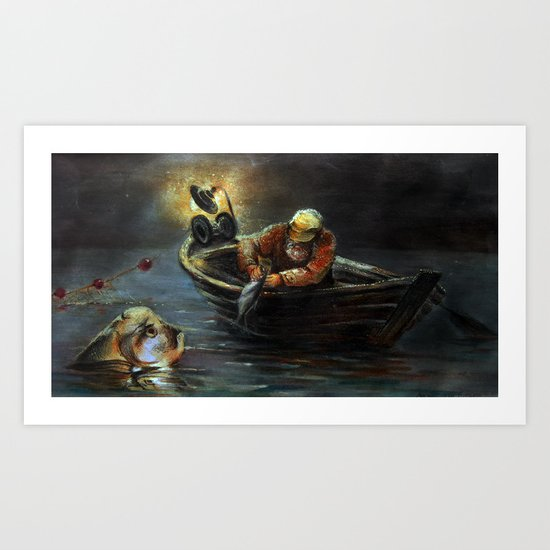 EYGENIA LOGVYNOVSKA, Goldfish Art Print