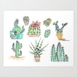 Little Bitty Cacti Art Print