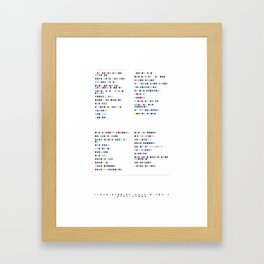 Metronomy Discography - Music in Colour Code Framed Art Print