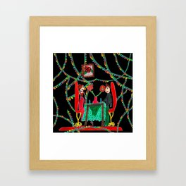 Christmas Dinner | Kids Painting Framed Art Print