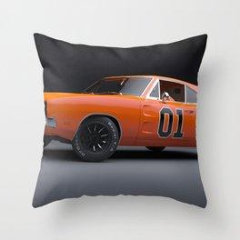 1969 Hugger Orange Hemi Charger RT color photograph / photography / poster Throw Pillow