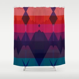 IN BETWEEN Shower Curtain