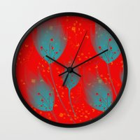 Nymphs' flowers Wall Clock