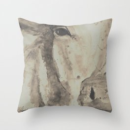 Spotted Farmhouse Cow Throw Pillow