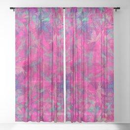 magic mandala 52 #mandala #magic #decor Sheer Curtain