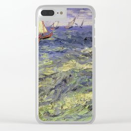 Vincent van Gogh - Seascape at Saintes - Maries Clear iPhone Case