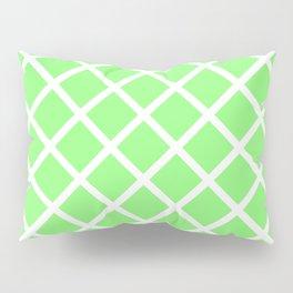 Criss-Cross (White & Light Green Pattern) Pillow Sham
