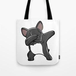 Funny Black French Bulldog Dabbing Tote Bag
