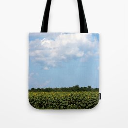 Field of Sunflowers Vertical Tote Bag