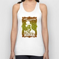 willy wonka Tank Tops featuring Gold Ticket by Buby87