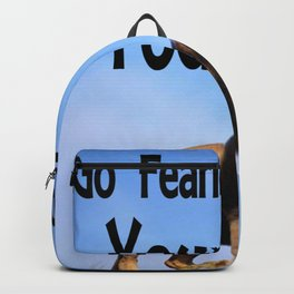Go Fearlessly Into Your Life, Affirmation, Lion Picture Backpack