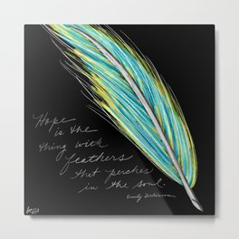 Hope Feather Metal Print