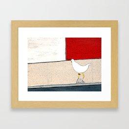 Donald crosses the road Framed Art Print
