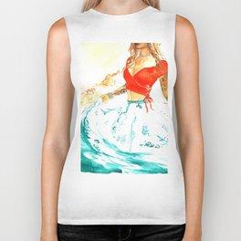 She is the Sea - Risa Marie Bohemian Ocean Goddess Biker Tank