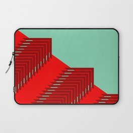 Line pattern, zigzagging with red and green Laptop Sleeve