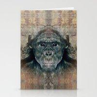 monkey Stationery Cards featuring Monkey by Zandonai