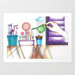 imagine (pointillism) Art Print
