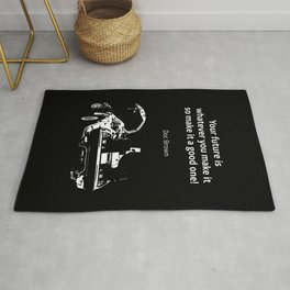 Back to the Future Doc Brown Quote 80s poster Rug