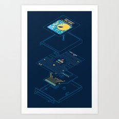 Blueprint Waka-Waka Art Print