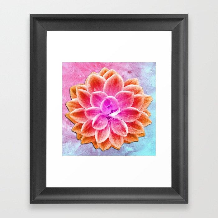 abstract dahlia  Framed Art Print