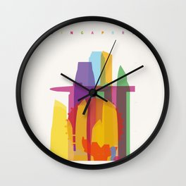 Shapes of Singapore. Wall Clock