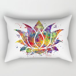 Lotus Flower 2 Watercolor Print Wall Art Wedding Gift Zen decor Rectangular Pillow