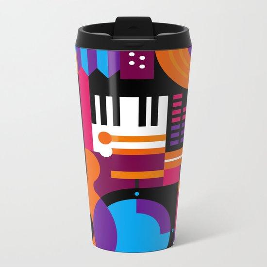 Music Mosaic Metal Travel Mug