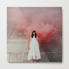 Red smoke Metal Print