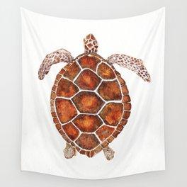 Turtle,Shell, Tortoise, Sealife, Lover, Animal Love, Brown Turtle, Wildlife, Turtle Lover, Turtles Wall Tapestry