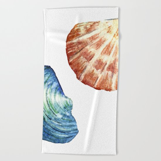 Colorful Shells Beach Towel