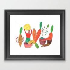 Vegetables Party. Framed Art Print