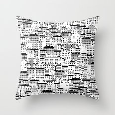 Shanghai wallpaper Throw Pillow