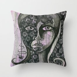 Two Sides of the Story Throw Pillow