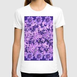 LILAC PURPLE SPRING PHLOX FLOWERS CARPET T-shirt